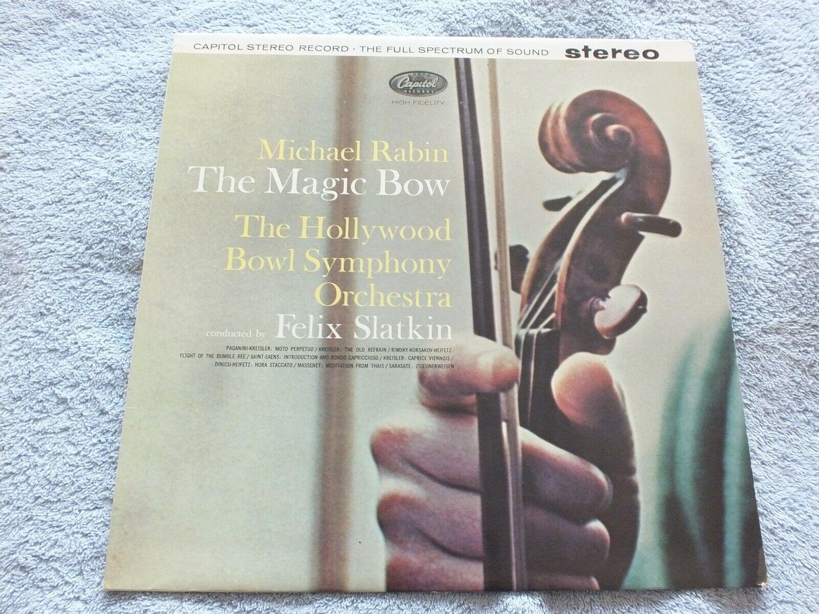 Michael Rabin  The Magic Bow   1st UK Capitol   Rare Stereo LP NM  EX   Listen