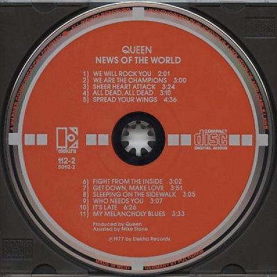Queen News of the World  West German Target cd