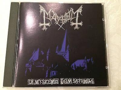 MAYHEM  DE MYSTERIIS DOM SATHANAS DSP 1 PRESS CD NO BARCODE Black Metal