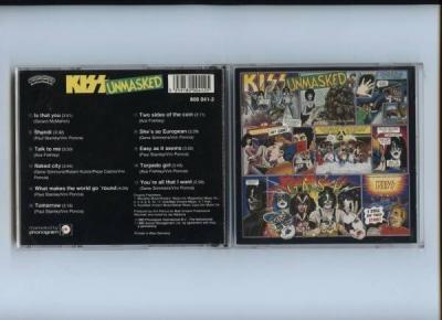 Kiss Unmasked West Germany Casablanca Pink Swirl 1st Press 1983 CD
