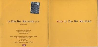 VASCO Rossi LA FINE DEL MILLENNIO 1999 CD singolo PROMO
