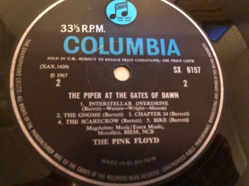 PINK FLOYD   THE PIPER AT THE GATES OF DAWN LP 1967  MONO SX 6157 1st PRESS  N M