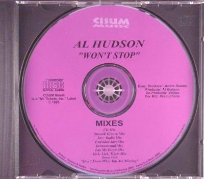 Al Hudson Won t Stop CD SINGLE RARE INDIE R B G FUNK PROMO MIXES  CISUM   95 MP3