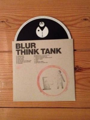 BLUR BANKSY  THINK TANK CD PROMO ALBUM WITH BANKSY HAND STAMPED IMAGE  RARE