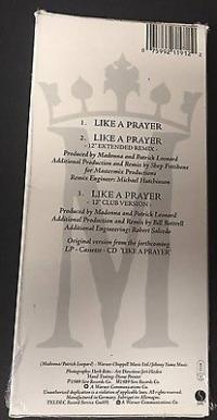 MADONNA    LIKE A PRAYER   CD MINI LONGBOX 3 Inch 21x9 5   SEALED MINT