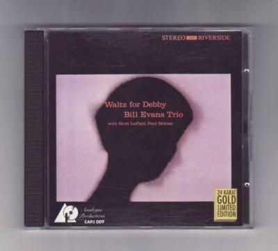 CD  BILL EVANS TRIO   Waltz For Debby   GOLD DISC