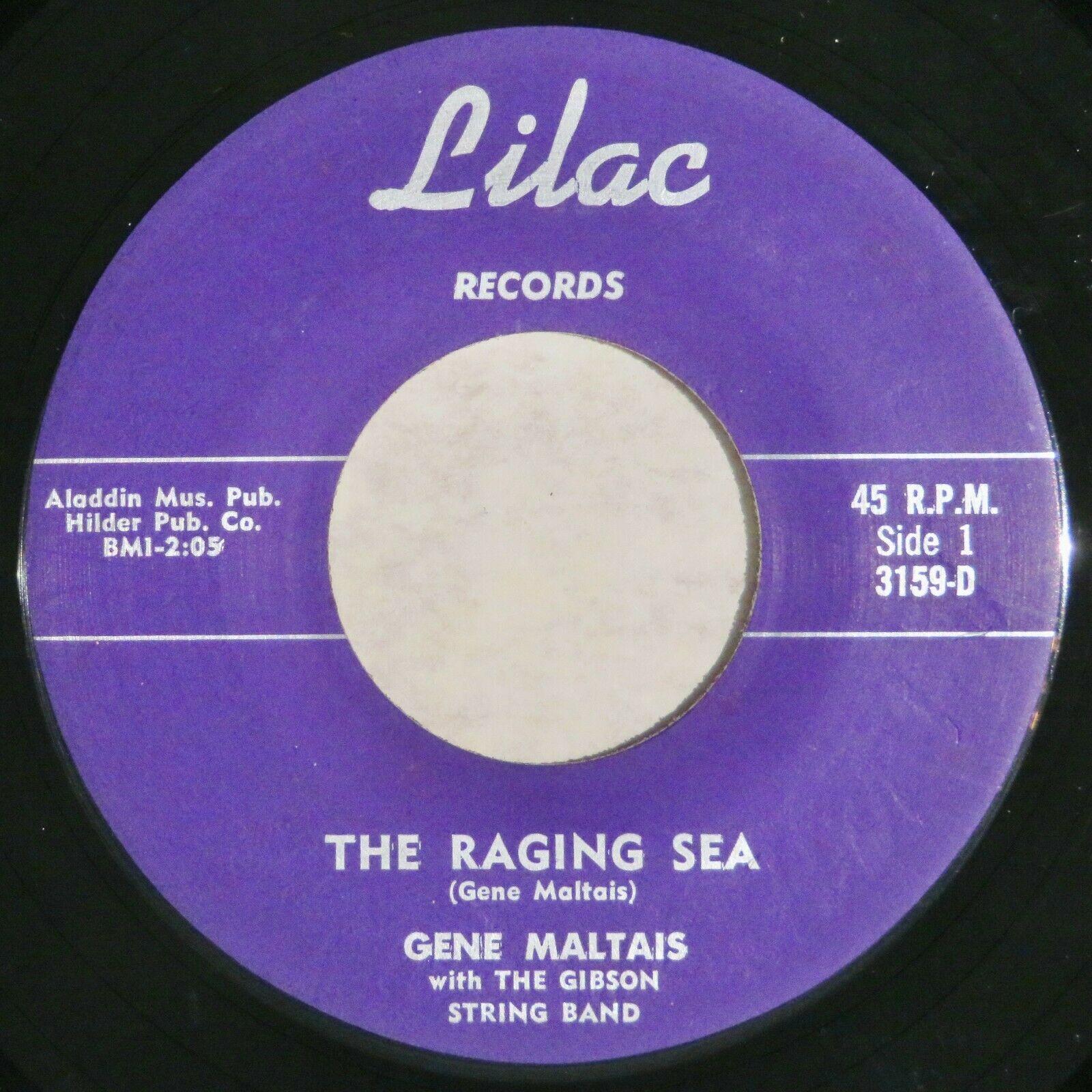 LILAC 3159 Gene Maltais Orig RARE Rockabilly 45 The Raging Sea Mint Minus