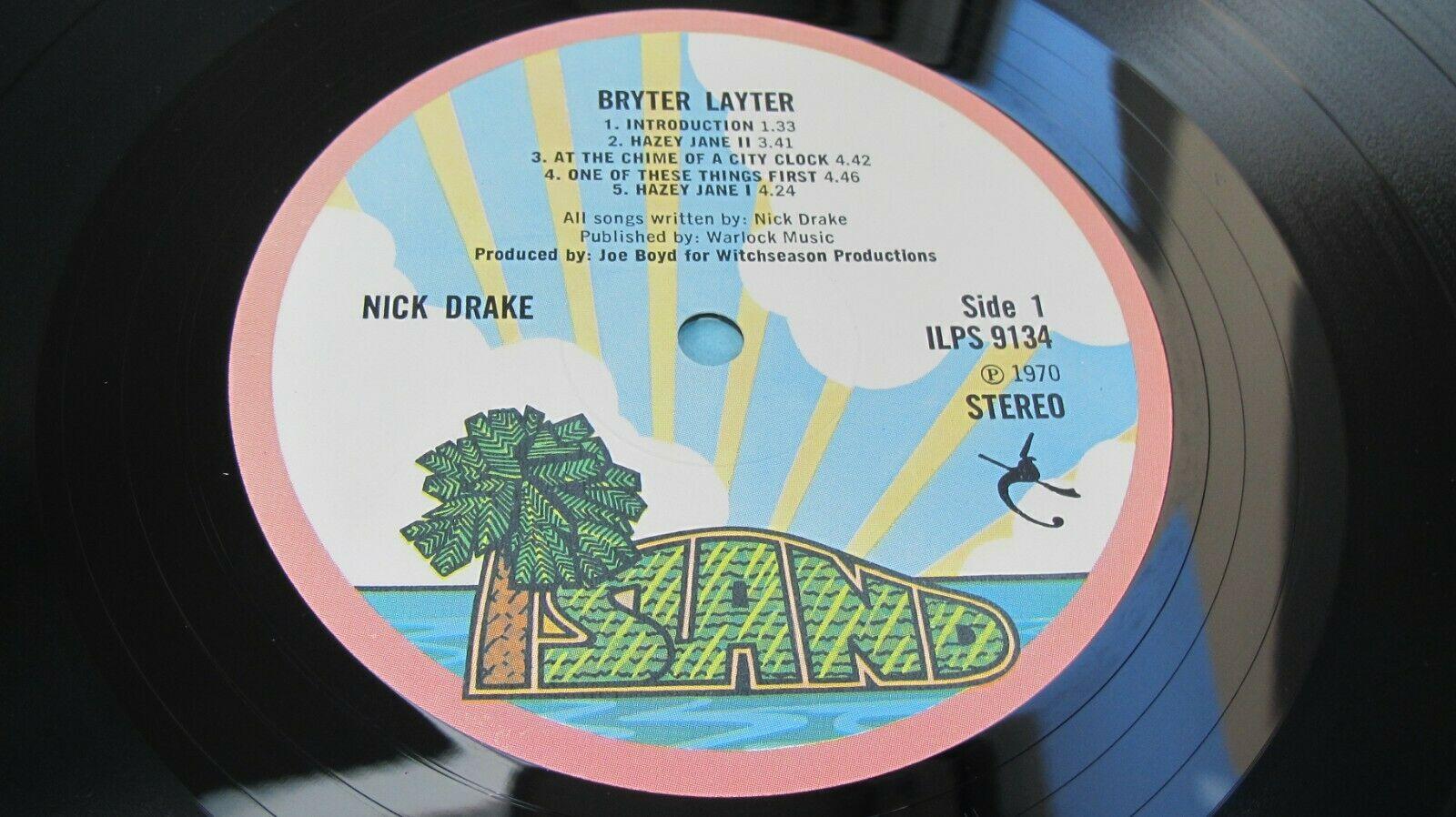 NICK DRAKE   BRYTER LAYTER 1971 UK LP 1st A 1U B 1U PINK RIM MINT MINUS HEAR