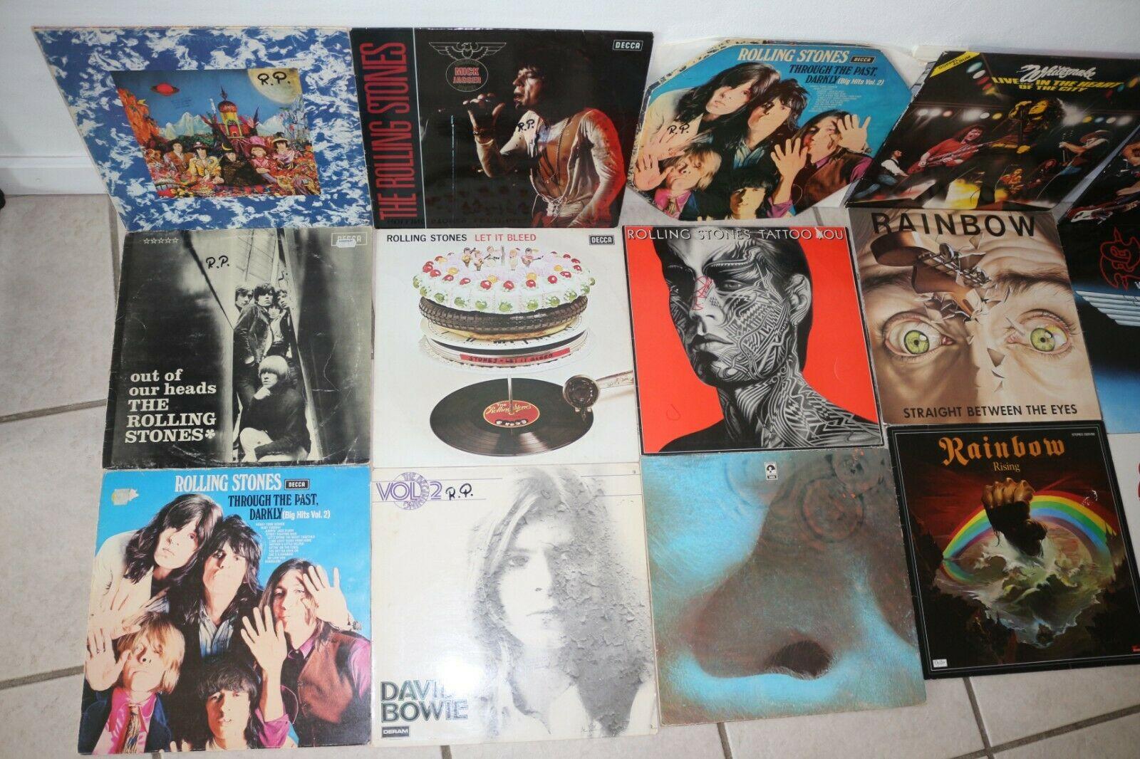 Rock Metal  Vinyl LP Sammlung der 70 80 90er  210 St  ck     sehr guter Zustand