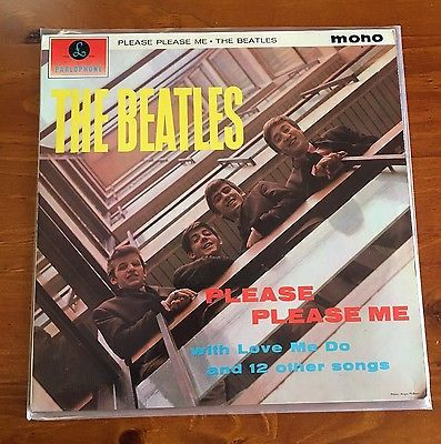 The Beatles   Please Please Me    NR MINT  UK 1963 1st Press GOLD Label MONO LP