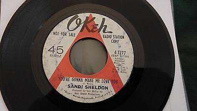 Sandi Sheldon you re gonna make me love you promo 7   NORTHERN SOUL OKEH RARE