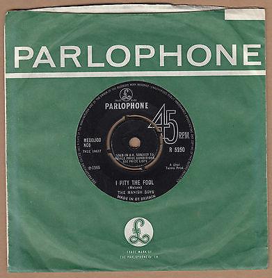 THE MANISH BOYS I Pity The Fool   Original UK 7  Single   DAVID BOWIE Parlophone