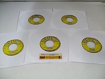 ELVIS PRESLEY sun records 5x7  45RPM singles 209 210 215 217 223 rare ORIGINALS