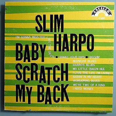 SLIM HARPO BABY SCRATCH MY BACK MEGA RARE ORIG 66 EXCELLO SWAMP BLUES MONO LP NM
