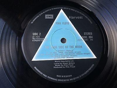 Pink Floyd dark side of the moon solid blue triangle vinyl lp A2 B2 beautiful