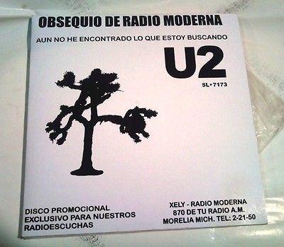 U2 MEXICAN PROMO  UNIQUE ART  radio station   RARE COVER  12    MEXICO  SHEET