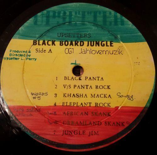 Upsetters Black Board Jungle Dub Rare Orig JA LP Listen