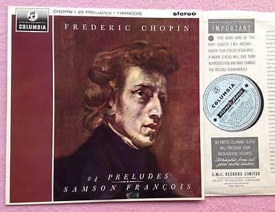 SAMSON FRANCOIS   24 Preludes Chopin  ORIG Columbia SAX 2521 UK 1964 LP NM