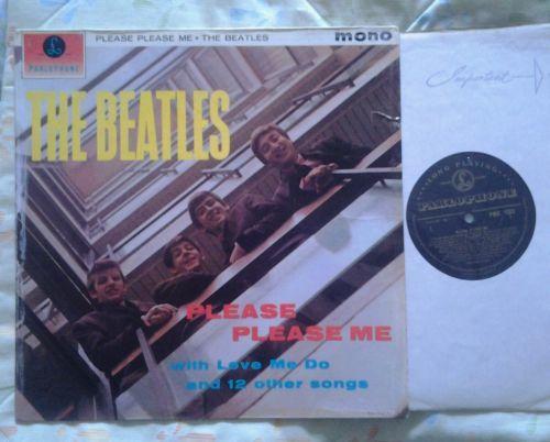 Beatles Please Please Me Black   Gold Label 1963 Parlophone 1N 1N LP