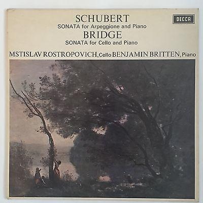 DECCA SXL 6426 WB UK 1st ROSTROPOVICH BRITTEN SCHUBERT ARPEGGIONE BRIDGE NM LP