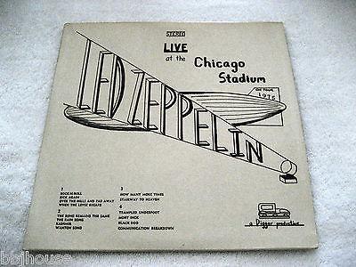 LED ZEPPELIN   Live At The Chicago Stadium 1975   Mega Rare DIGGER 2 LP Live EX