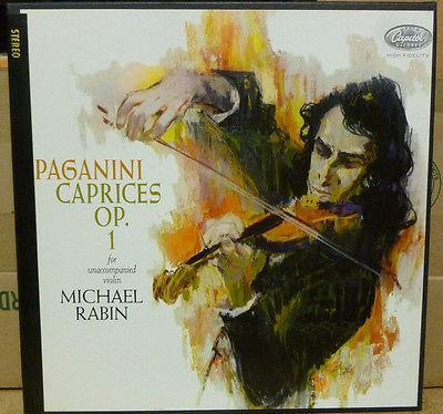 PAGANINI Caprices Op  1   Michael Rabin Violinist   NM 1950s Stereo Vinyl 2x LP