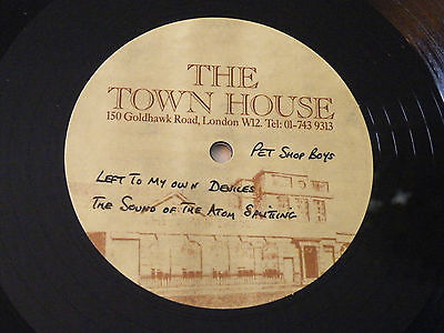 PET SHOP BOYS LEFT TO MY OWN DEVICES  ATOM SPLITTING 12 TOWNHOUSE ACETATE 88