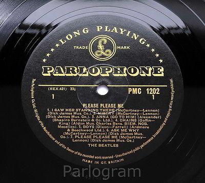 The Beatles   Please Please Me    MINT  UK 1963 1st Press GOLD Label MONO LP