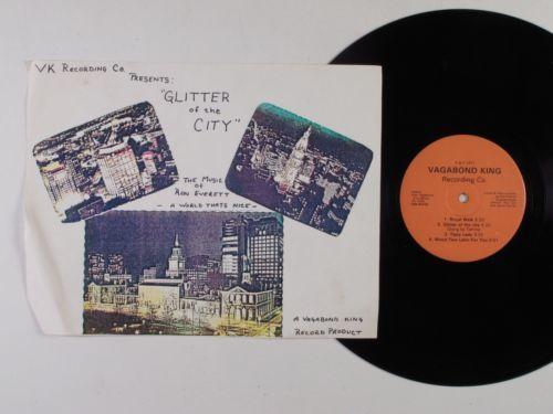 RON EVERETT Glitter Of City VAGABOND KING LP w insert private funk jazz HEAR