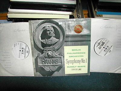 ASD 350 Brahms symphony 1 Kempe Stereo LP 1960 2x1 sided test press ED1