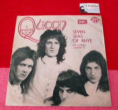 QUEEN Seven Seas of Rhye PORTUGAL 7  45 Unique PS EMI 1974 MEGA RARE