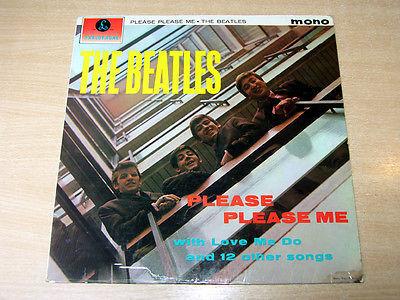 BLACK   GOLD  The Beatles Please Please Me 1963 Parlophone LP