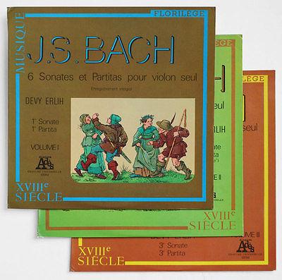 DEVY ERLIH J S Bach violin solo sonatas   partitas ORIGINAL ades STEREO 3LP NM