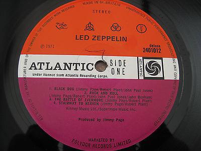 Led Zeppelin Iv 4 Symbols Zoso Red Plum Uk Lp 1st Rare A3 B3 Mint