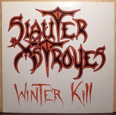 PRIVATE slauter xstroyes WINTER KILL lp ORIGINAL lyric insert METAL nm BEAUTIFUL
