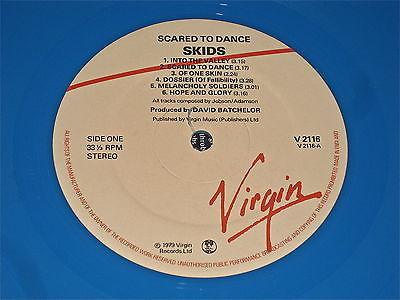 THE SKIDS   SCARED TO DANCE LP MEGA RARE WITHDRAWN BLUE VINYL RECORD CLASH PUNK
