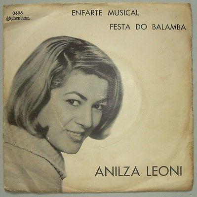 ANILZA LEONI    ENFARTE MUSICAL  1967 KILLER SAMBA JAZZ BOSSA BRAZIL 7  45 HEAR