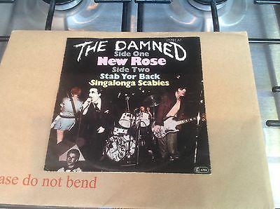 The Damned New Rose Mega Rare Original German 7  Pict Sleeve  Punk Sex Pistols