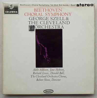 Lv BEETHOVEN  LP 9th Choral Symphony  G Szell SAX 2512 b s EXC