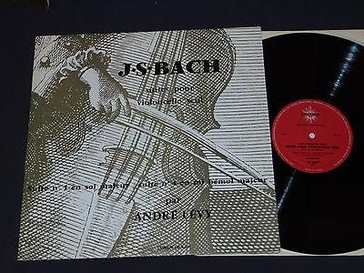 JS BACH suites cello solo 1 4 Andre LEVY lumen 3447 mint  lp