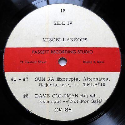 SUN RA outtakes   1957 ACETATE LP UNRELEASED TRANSITION unknown recordings HEAR
