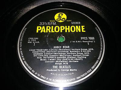 LP THE BEATLES ABBEY ROAD EXPORT PPCS 7088 1st PARLOPHONE UK PS Y B YELLOW BLACK