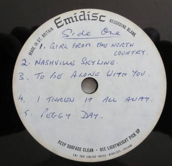BOB DYLAN   Nashville Skyline  Emidisc  UK ACETATE LP