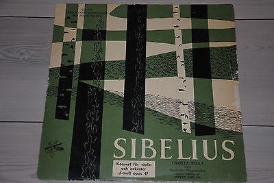 CAMILLA WICKS   Sibelius   Violin Concerto   METRONOME CLP 510   orig Sweden LP