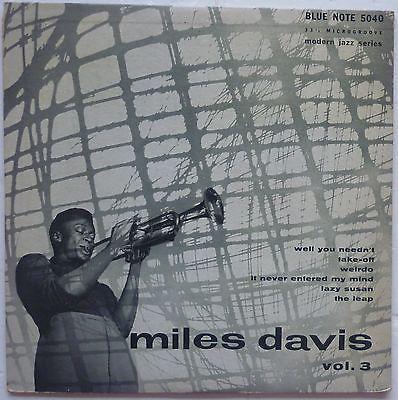 MILES DAVIS   BLUE NOTE 5040   MILES DAVIS VOL  3   1954 ORG  LEX  NearMint LP