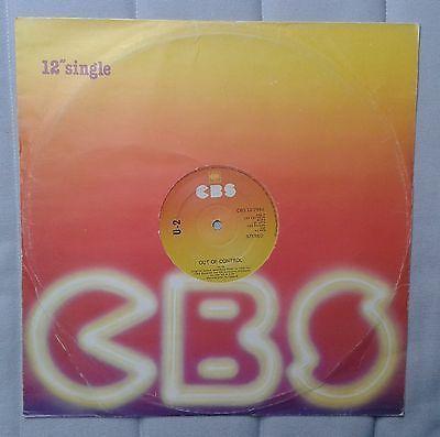 U2 Three   Out of control 12  rare 1st CBS press Non stickered