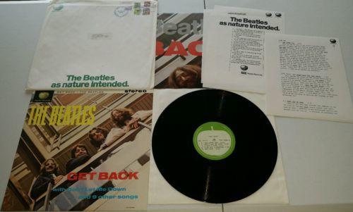 THE BEATLES Get Back LP PCS 7080  Apple Acetate Press Kit  1969 Glyn Johns Mix