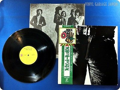 ROLLING STONES Real Zipper Sticky Fingers Japan Mick Jagger OBI LP f5727