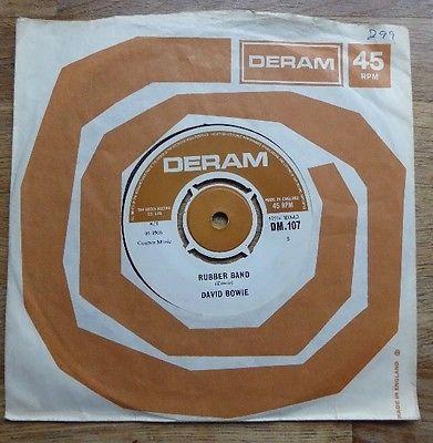 DAVID BOWIE Rubber Band   The London Boy        s RARE UK 1st DERAM 7        45 EX