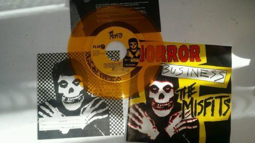 Horror Business The Misfits PL1009 Vinyl  7   EP  Repress  45 RPM  Yellow